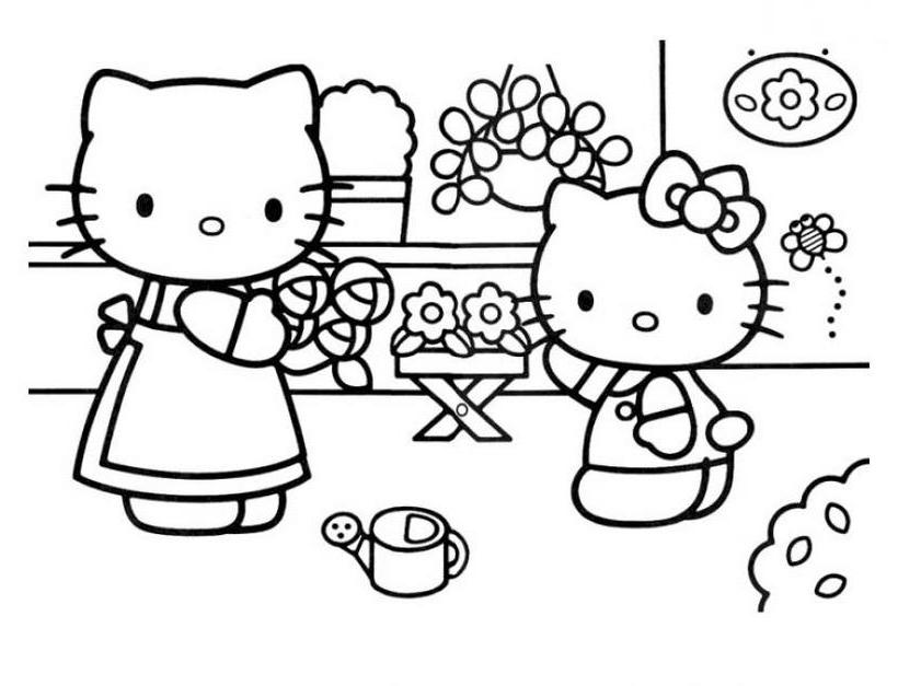 Imagenes De Baños De Hello Kitty:Imágenes de Hello Kitty para colorear – Hello Kitty – España